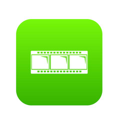 film strip icon green vector image