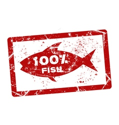 Fish grunge stamp vector