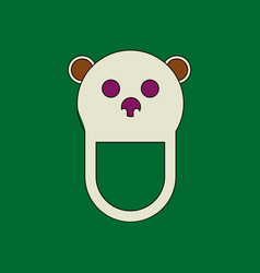 Flat icon design collection teddy bear bib vector