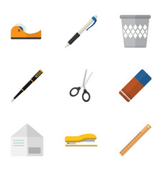 Flat icon tool set of rubber letter duct and vector