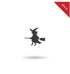 flying broom icon vector image