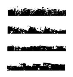 Four black frames grunge vector