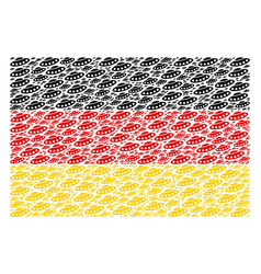german flag collage of ufo items vector image