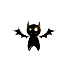 halloween bat character design vector image