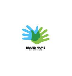 Hand care logo design inspiration vector