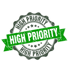 High priority stamp sign seal vector