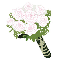 isolated colored roses vector image