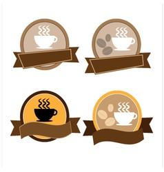 Labels set with coffee vector image