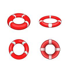 Lifebuoy icon set cartoon style vector