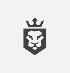 Lion shield logo icon face logo vector