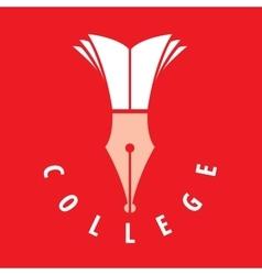logo college vector image