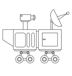 Mars rover curiosity icon vector