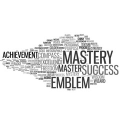 Mastery word cloud concept vector
