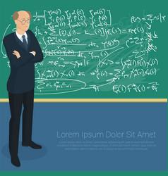 math professor at the blackboard vector image