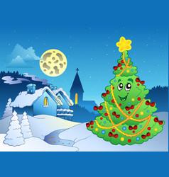 merry christmas theme 3 vector image
