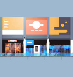 modern retail store with many shops and vector image