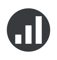 Monochrome round volume scale icon vector