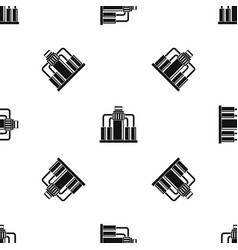 oil refining pattern seamless black vector image
