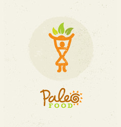 paleo food clean eating concept on organic vector image