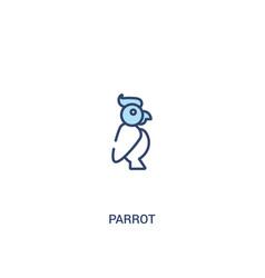 Parrot concept 2 colored icon simple line element vector