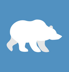Polar bear wild animal north pole beast of arctic vector