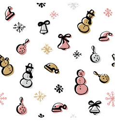 Scandinavian seamless pattern of christmas vector