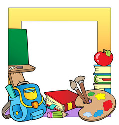 school theme frame 2 vector image