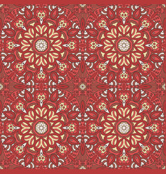 Seamless pattern doodle ornament ethnic motives vector