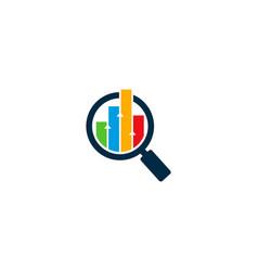 search statistic logo icon design vector image