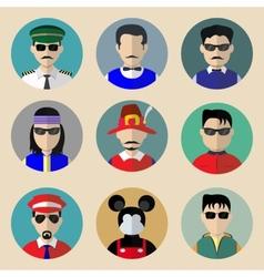 set avatars vector image