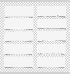 Set of various white note papers design elements vector