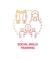 Social skills training concept icon vector
