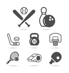 sport tools black trendy icons eps10 vector image