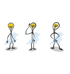 Stick lamp guy vector image