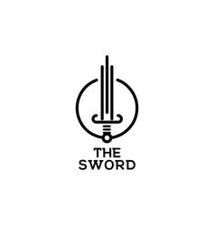sword logo symbol inspiration template vector image