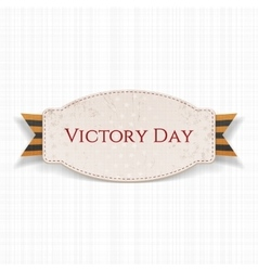 Victory Day Paper white Banner vector
