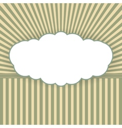Vintage background with form of a cloud vector