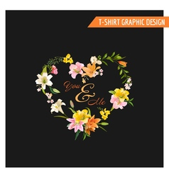 Vintage Floral Graphic Design - Summer Lily Flower vector
