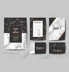 Wedding invitation cards collection save the date vector