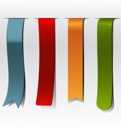 bookmarks set vector image