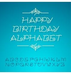 Hand-drawn alphabet letters happy birthday design vector image