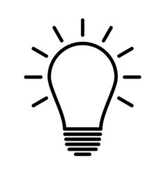 light bulb line icon idea sign vector image vector image