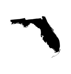 map of the us state of florida vector image vector image