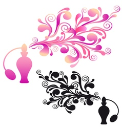 perfume bottle with floral scent vector image