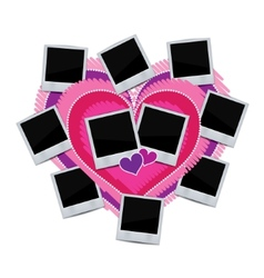 Photo frame on white background vector image vector image