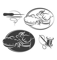 shoe repair symbol set vector image vector image