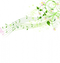 spring song background vector image