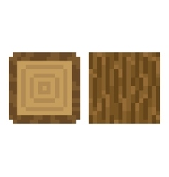 Texture for platformers pixel art - brown vector image vector image