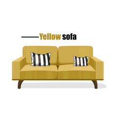 modern sofa isolated on white background vector image