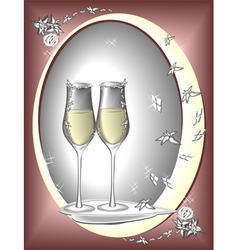 Two glasses to celebrate vector
